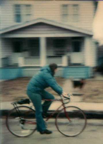 Me, my bike,and my blurry house, circa 1981.