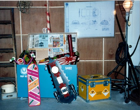Props on display, early 1990s.