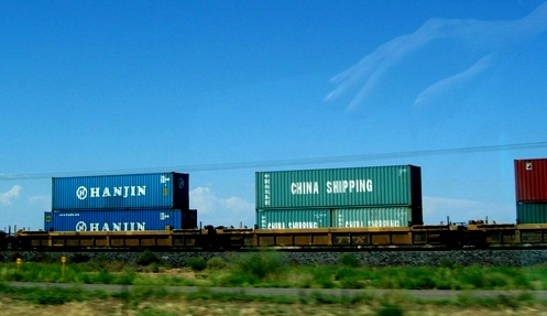 From China to ? via Arizona by rail.