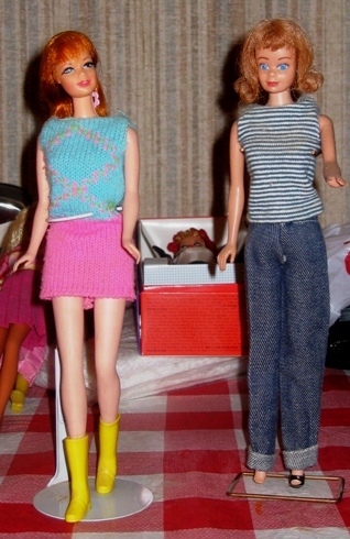 Two friends of Barbie.