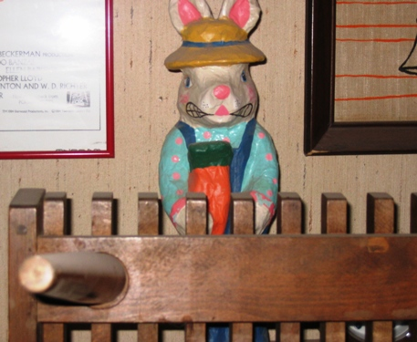 E.P. Bunny is papier mache - we think!