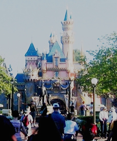 the statue you can barely see is Walt with Mickey.