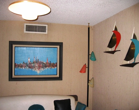 our turquoise and salmon corner.