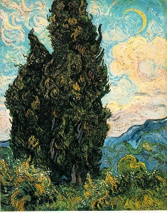 One of Van Gogh's cypress paintings
