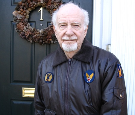 Dad in his replica flight jacket
