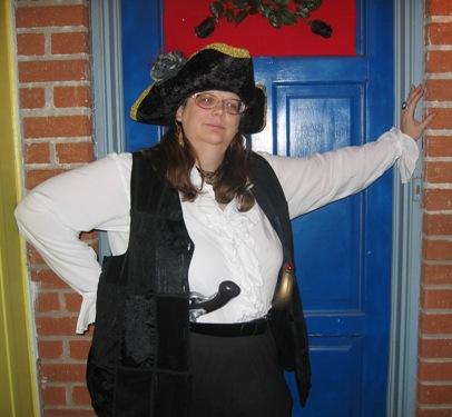 Kate at Karen's front door.
