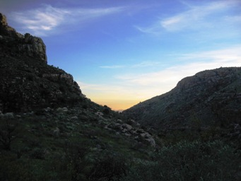 Molina Canyon at sunset