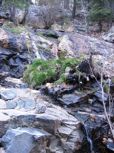 Marshall Gulch mini-waterfall