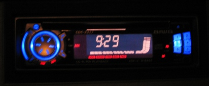 with the radio on!