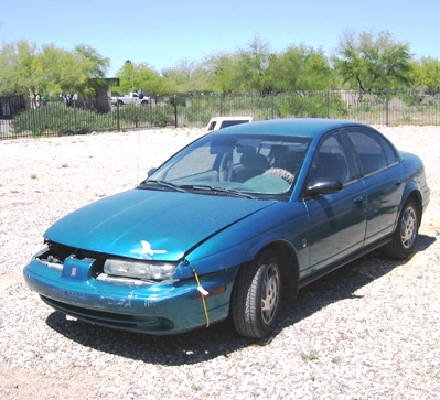 the Saturn at Maaco, before I stripped it.