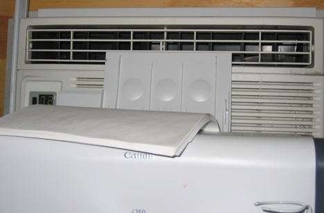 My office air conditioner wouldn't be cool evenough even if the printer weren't in the way.
