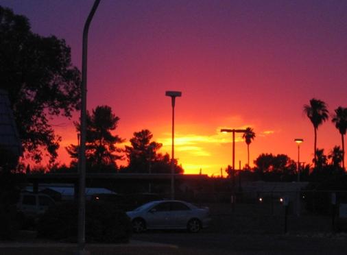 Sunset, unenlightened