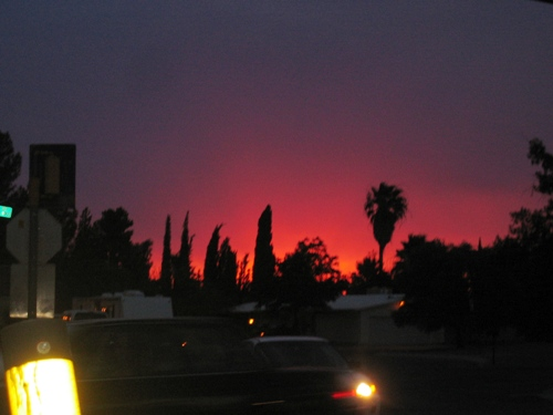 Sunset comes early, and darkness falls quickly.