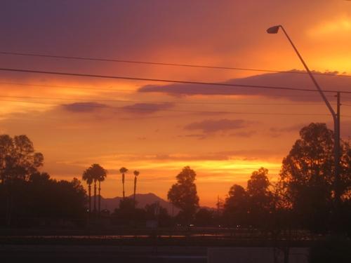 Sunset at safeway, again.