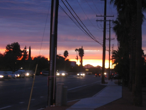 Sunset from Fifth and Wilmot, 11/10/05
