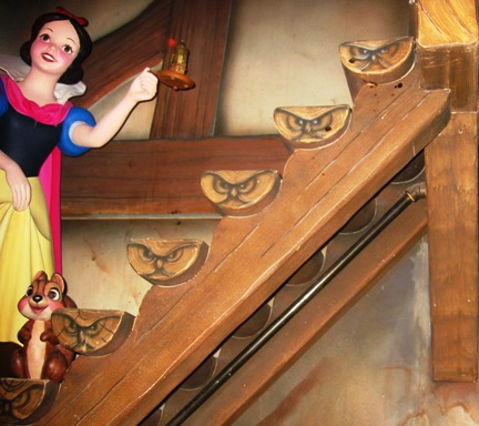 Snow White has a Scary Adventure.