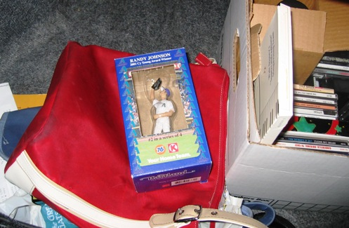 Randy Johnson and an old purse.