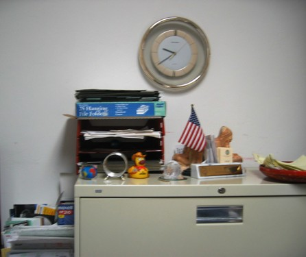 Beginning of the day: cabinet