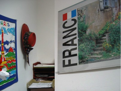 France in my office at Worldwide Travel, 5/17/05